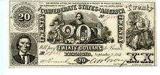 1861 $20       Counterfeit  Confederate Currency  CT-20/141