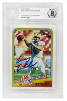 Vinny Testaverde Signed Buccaneers 1988 Topps Rookie Card - Beckett Encapsulated