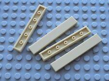 4 x LEGO Tan tile 1x6 ref 6636 / Set 10214 10196 7709 10190 10211 6212 4502 7259