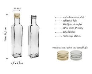 24 leere Glasflaschen Flaschen Maraska 250ml & ETIKETTEN zum Beschriften Gold