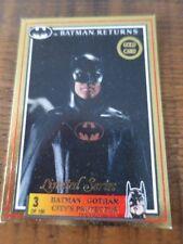 1992 Australia Dynamic Batman Returns Movie Gold Card No. 3 Batman Gotham