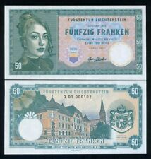 Liechtenstein, 50 Francs, 2019, Private issue, Specimen - Girl with a pendant