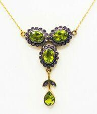 Peridot Necklace Peridot & Amethyst Gold & Silver