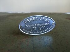 Vintage Small Embossed PASSMORES PORTABLE BUILDINGS LTD Metal Tin Sign Salvage