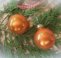 ★christbaumkugel weihnachts ohrringe opalisierend orange silber 925 haken 3cm
