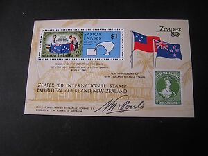 SAMOA, SCOTT # 533, S/S 1980 ZEAPEX N.Z STAMP EXHIB. SIGNED BY THE ARTIST MNH