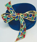 Rare Trifari Alfred Philippe Modern Mosaics Blue Green Red Poured Glass Brooch