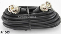 3 ft. RG58 Coaxial Cable w/ BNC Male Connectors, Black