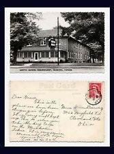 CANADA ONTARIO GRAVENHURST MUSKOKA MARTIN MANOR REAL PHOTO 15 JULY 1953 TO OHIO