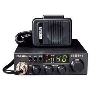Uniden PRO520XL 40 Channel CB Radio Compact Mobile AM PA Black 2YR Warranty NEW