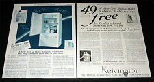 "1927 OLD MAGAZINE PRINT AD, NEW KELVINATOR ""SEALTITE"" CABINET REFRIGERATORS!"
