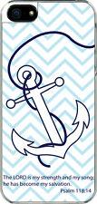 iPhone 5 Plain Faith Anchor Psalm 118:14 Designed Sticker on Hard Case Cover