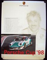 PORSCHE OFFICIAL CUP OFFICIAL RACECAR SHOWROOM POSTER 993 911 GT2 1998