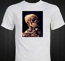 Vincent Van Gogh Skull Smoking Famous Impressionist Art T-shirt