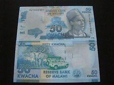 MALAWI 50 KWACHA 2012. NEW PAPER MONEY, AUTHENTIC & UNC