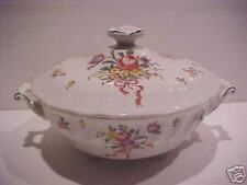 Royal Doulton Old Leeds Sprays D6203 Covered Vegetable Bowl with Lid