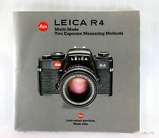 Leica R 4 Sales Brochure - printed May 1984 - 52 pages