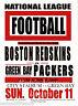 "Green Bay Packers vs Boston Redskins Poster 1936 NFL Vintage Football Lge 13X19"""