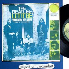 THE BEATLES LET IT BE  7 INCH VINYL 1970 APPLE ITALY ORIGINAL VERY RARE