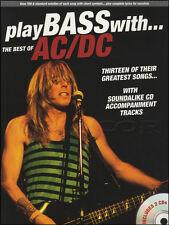Suonare il basso con il meglio della chitarra AC/DC Scheda Libro di musica con 2cds