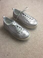 Fitflop FF Supertone Pewter Metallic Silver Trainers Sneaker Size UK 4 EU 37