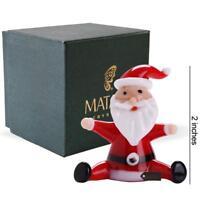 Murano Christmas Winter Decorative Glass Sitting Santa Figurine, Christmas Gift
