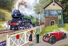 GIBSONS BACK ON TRACK 500 PIECE STEAM TRAINS NOSTALGIA JIGSAW PUZZLE
