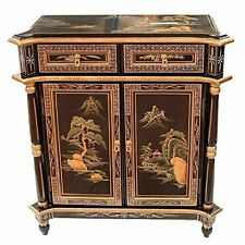 noir verni avec Artistry Design Pilier Armoire Oriental Meuble chinois bb85356d37cd