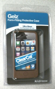 iPod Touch 4th Gen Case Silicon Gel Rubber Soft Flexible + Screen Protect, BROWN