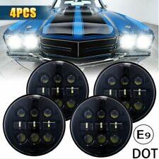 "4X 5.75 5-3/4"" inch Car LED Headlight Fit For Chevy GMC Corvette C1 C2 1963-1982"