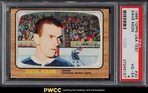 1966 Topps USA Test Dave Keon #30 PSA 4 VGEX