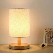 Bedside Lamp Night Light Warm White Bulb Dimmable Wood Table lamp Brightness