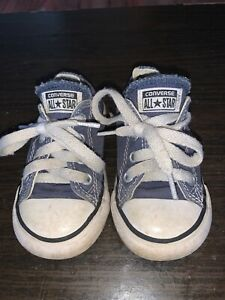 Converse Allstar Infant Toddler Sneakers BlueGray White  Size 6