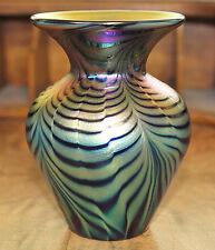 Lundberg Studios Waterfall Mini Heart American Art Glass Vase, Artist Signed