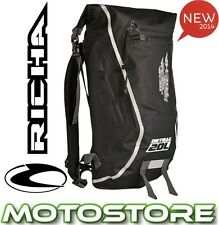 RICHA H20 DRY BAG RUCK SACK BACK PACK BLACK MOTORCYCLE WP 100% WATERPROOF 20L