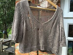 QUIRKY PUNK GRUNGE HOLEY JUMPER FROM LAUREN VIDAL SIZE M