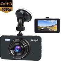 """Dash Cam 1080P Full HD Car Camera DVR Dashboard Camera 3"""" IPS Screen 170°Wide UK"""