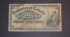 Dominion Canada Twenty Five Cent Banknote 1900
