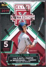 2019 Panini Elite Extra Edition Baseball Cards Blaster Box 2 Hits A Box Average