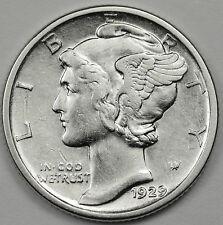 1929-d Mercury Head Dime.  A.U.  85852   (Inv-A)