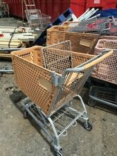 Plastic Shopping Carts Tan Small / Medium Basket Used Store Fixtures Buggies