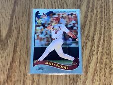 2002 Topps Chrome 160 Albert Pujols - Mint Condition