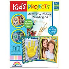 Kids Projects MAGIC CLAY PLASTER MOULDING CRAFT KIT Paintable, Creative Skills