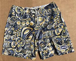 Vintage GOTCHA Board Shorts Surf Trunk 100% Cotton USA Made Size 36
