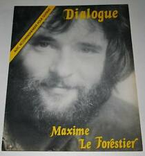 Partition vintage sheet music MAXIME LE FORESTIER : Dialogue * 70's