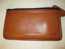 Vintage Coach British Tan Skinny Case Cosmetic Bag