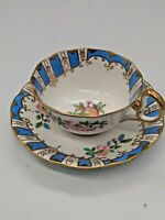 """Royal Albert Crowne China Cup & Saucer #7423  Wide Mouth 2"""" tall x 3 3/4"""" Dia."""