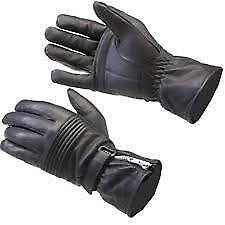 MOTOHART LEATHER ZIPPED MOTORCYCLE GLOVES CLASSIC NEW DB-8 SIZE L LARGE NEW