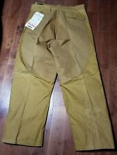 NEW VTG SAFTBAK Canvas Double Front 38x30 hunting fishing Very Stiff/Dust* A1101