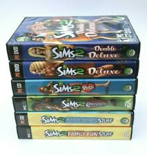 Lot of 6 The SIMS 2 PC CD Computer Games Double Deluxe Pets University Family